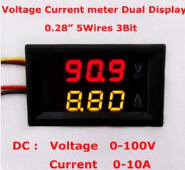 $enCountryForm.capitalKeyWord NZ - 100pcs lot Car Panel Red yellow LED Dual Display DC 0-100V 10A Digital Amp Volt Meter Voltage Current Monitor Tester Voltmeter