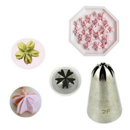 $enCountryForm.capitalKeyWord Australia - Wholesale- 1PC Lot Big Size 2F Stainless Steel Icing Piping Nozzles For Cake Decoration Flower Sakura Cherry Blossoms Icing Piping Nozzles