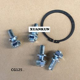 screw gaskets Canada - CG125 Motorcycle Rear Wheel Hub Tooth Screw   Nut Fixed Gasket   Chain Plate Set Screws