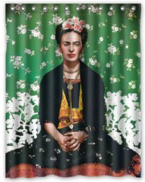 Frida Kahlo Design Shower Curtain Size 140 x 180 cm Custom Waterproof Polyester Fabric Bath Shower Curtains