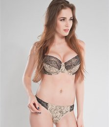 2ffc65b6fd Intimates Set Women plus size Bra Sets Embroidered Flora Lace Thong Bra And Panty  Set C D E 34 36 38 40 Sexy Lingerie Set N166