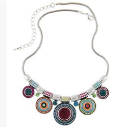 $enCountryForm.capitalKeyWord UK - 2016 New Arrival Necklaces Chunky Statement Chain Vintage Bohemian Rhinestone Bib Choker Necklace Elegant Beads Pendants 3pcs  Lot