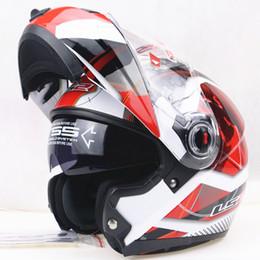 Genuine Helmet NZ - Newest motorcycle helmet LS2 ff370 filp up motocross LS2 helmets double lens helmets casco Capacete 100% Genuine Free DHL