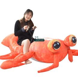 Lobster Toys NZ - Dorimytrader Jumbo 200cm Pop Anime Mantis Shrimp Plush Toy Giant Stuffed Soft Simulated Sea Animals Lobster Doll Lover Baby Gift DY61670