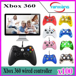 windows computer games Canada - 100pcs New USB Wired Game Controller Gamepad Joypad Joystick For LED Xbox 360 Slim Accessory PC Computer Windows 7 YX-360-02