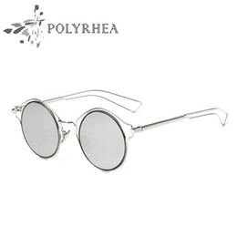 sunglasses designs NZ - 2018 Vintage Sunglasses Round Brand Designer Sun Glasses Hollow Design Frame Unisex Circle Sun Glasses With Cases Box Cases