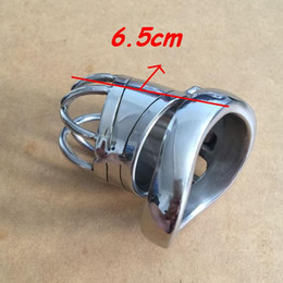 $enCountryForm.capitalKeyWord Canada - Chastity Devices Male chastity stainless steel ball stretcher sex ring for men male cage