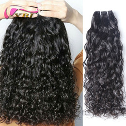 Discount human hair mixed bundles - xblhair water wave virgin human hair weft black in extensions virgin malaysian flat human hair bundles