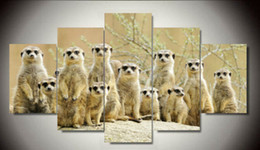 $enCountryForm.capitalKeyWord NZ - Hot Sell Soil mouse Modern Home Wall Decor Canvas picture Art HD Print Painting 5 panel a set Canvas arts with framed F 920