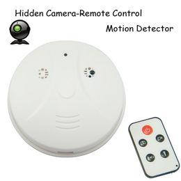 Smoke Detector Motion Detection Camera Canada - Free Shipping Smoke Detector camera with motion Detection DVR Camcorder DV + Remote White HD Smoke DVR
