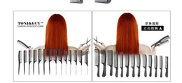 Double Hair Combs Canada - black TONY & GUY hairdressing comb Haircut comb Hair comb 12 PCS each style Antistatic comb double-use style Hair Care & Styling Tools