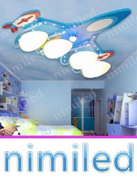Nimi752 1 3 4 5 Lights Children S Room Aircraft Ceiling Lamp Bedroom Lighting Led Boy Bedroom Ideas Wall Lights Mdf Plate Glass Lampshade