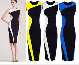 Colorblock Work Dress