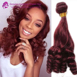 $enCountryForm.capitalKeyWord Canada - 4pcs 99J Sexy Unprocessed Brazilian Aunty Funmi Human Hair Weaves,Romance Sprial Curly Human Hair Weft dark wine Aunty Fumi Hair Extension