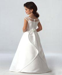 $enCountryForm.capitalKeyWord Australia - 2017 ivory white scoop neckline ruffles a-line long first communion dresses for girls infant baby girl christening communion dress