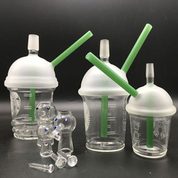 $enCountryForm.capitalKeyWord Canada - 14mm bongs Starbuck Cup recycler oil rigs pipes for smoking with green dab concentrate 10mm 14mm 18mm joint glass pipes free shipping
