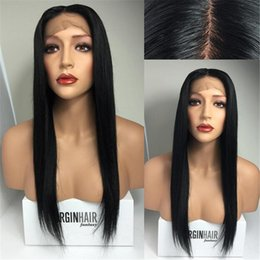 full lace wig natural hair lining NZ - High quality Brazilian human hair glueless full lace wigs & front lace wigs straight natural color natural hair line free shipping