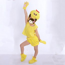 Yellow Duck Clothes Canada - Kids Boy Girls Favor Animal Yellow Duck Cosplay Hallowmas Costume Clothing 3D Headpiece Carnival Party Birthday Gift