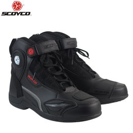 moto professional 2018 - SCOYCO T-015 Moto Racing faux Leather Motorcycle Boots Shoes Motorbike Riding sport road SPEED professional botas cheap