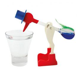 Novelty Plastic Glasses Wholesale UK - Wholesale 200 pcs lot Drinking bird Novelty Glass Drinking Dippy Bird Bobbing Einstein Duck children education toys Free shipping