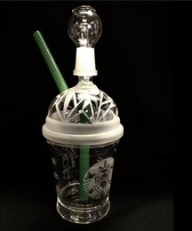 sandblasted starbucks cup bong NZ - SANDBLASTED DABUCCINO STARBUCKS GLASS BUBBLER OIL RIG Dab Concentrate Oil Rig HITMAN GLASS DABUCCINO INSPIRED CUP RIGS GLASS BONGS