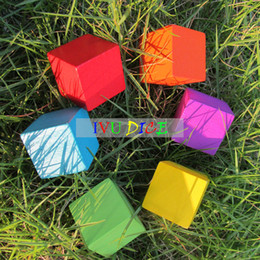 $enCountryForm.capitalKeyWord UK - 30pcs 25MM Candy color blank dice natural wooden cube dice props diy colored drawing materials Educational Toy IVU