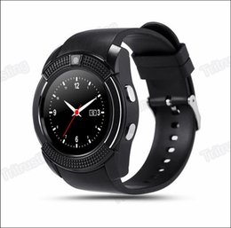 bluetooth smart watch sim Australia - V8 Smart Watch Bluetooth Watches Android with 0.3MP Camera MTK6261D Smartwatch for android phone Micro Sim TF card with Retail Package MQ20