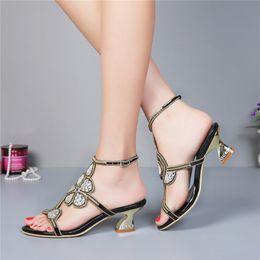 c8423fd9871 1 inch heel dress shoes For Sale - Kitten Heel Gold Rhinestone Wedding  Sandals Slingback Comfortable