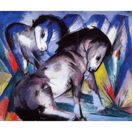 Marc Painting Australia - contemporary art oil paintings Two Horses Franz Marc canvas reproduction hand-painted wall decor
