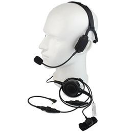 Discount tactical headsets ptt - Finger PTT MIC Military Bone Conduction Tactical Headphone Headset for Motorola T5950 6200 6220 Ham Radio Walkie talkie