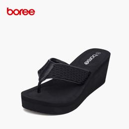 Massage Sandal Flip Flop Canada - Boree Summer Women's Sandals Fashion Flip Flops Casual Shoes Soft Air Mesh Non-Slip Massage Thick Soled Beach Slippers SDL0039