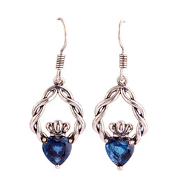 $enCountryForm.capitalKeyWord Australia - Eardrop Lab blue Silver Plated dangle Hook Earrings Fashion Jewelry Women Wholesale Free Shipping