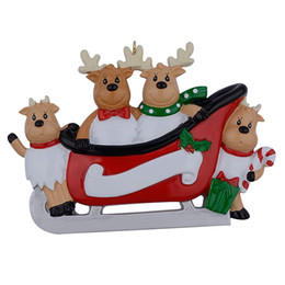 $enCountryForm.capitalKeyWord Canada - Maxora Resin Reindeer Family Sled Family Of 4 Christmas Ornaments Personalized Gifts For Holiday or Home Decor Miniature Craft Supplies