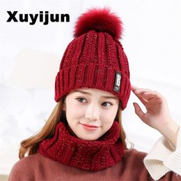 balaclava knitting 2019 - Wholesale- XUYIJUN Winter Hats Skullies Beanies Hat Winter Beanies For Men Women Wool Scarf Caps Balaclava Mask Gorras B