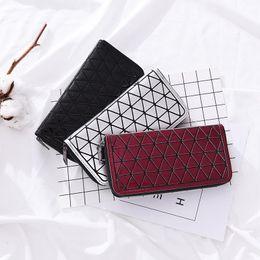 Multi Color Hand Bag Australia - New Clutch Bags Women PU Geometric Lingge Leather Wallet Multi-Color Optional Ladies Bag Simple Fashion Hand Bag Purse For Female
