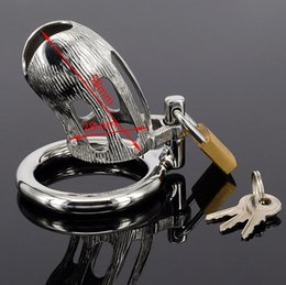 $enCountryForm.capitalKeyWord Canada - Small size Stainless Steel cockcage chastity device penis cock cage + snap ring +Padlock Sex toys for male men bondage 951