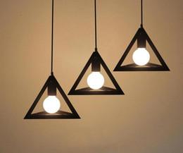 Pendant Lights Dining Room Canada - For Dining Room Restaurant Retro Vintage Loft industrial LED Pendant Lamp Edison Bulb Modern Pendant Light Triangle Hanging Lamp