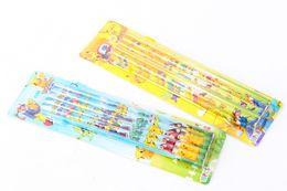10 Scatola / 100 Pz Cartoon Anime Pikachu Style Legno matita cancelleria studente palla 2B 17.5 cm Nuovo Regalo in Offerta