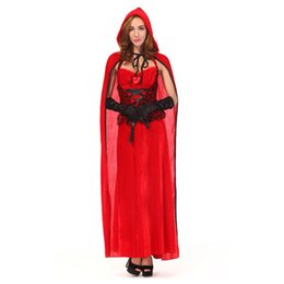 2017 mystical dresses wholesale sexy costume historical long dress red halloween costume for women cosplay - Mystical Halloween Costumes