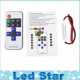 dc controllers NZ - Delicate Single Color Remote Control Dimmer DC 12V 11keys Mini Wireless RF LED Controller for led Strip light