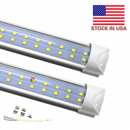 cool cold packs Canada - 25-Pack 72W T8 LED Tube 8Ft Double Rows Integrated lights Bulbs 2400mm 2.4m AC85-265V 7200LM Led Shop light