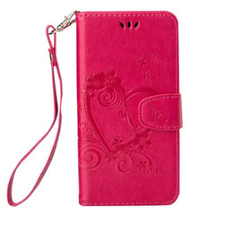 Discount huawei honor wallet cases Love Wallet PU Leather Case For Samsung Galaxy A3 A5 J3 J5 J7 2017 Huawei Y560 Y360 Honor 6 5X Y6 Heart Strap Photo Stan