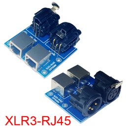 Dmx512 pc controller online shopping - 2015 New Version XLR3 RJ45 DMX512 Relays connector use for DMX Relays led controller