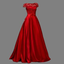 China Free Shipping Red Sashes Crystal Beaded Vestido De Festa Scoop Elegant Evening Dresses Taffeta Celebrity Porm Party Dresses Vestido Longo cheap dress evening porm suppliers