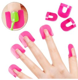 Consejos De Esmalte De Uñas De Gel Baratos-Bittb 26 unids / set Esmalte de Uñas Protector de Barniz Holder Manicura Dedo Nail Art Design Tips Cubrir Shield Tools Uv Gel Nails Design