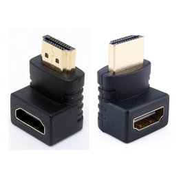China HDMI Male to HDMI Female Cable Adaptor Adapter Converter Extender 270  90 Degree Angle for 1080P HDTV HDMI Adapter 100pcs lot suppliers