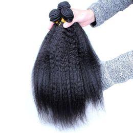 $enCountryForm.capitalKeyWord Canada - 7A Grade Brazilian Yaki Kinky Straight hair human hair weav 10~28inch hair bundles peruvian malaysian Indian no tangle human hair extensions