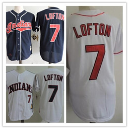 b0a55a077 ... cool base stitched mlb jersey Mens Cleveland Indians 7 Kenny Lofton Navy  Blue Throwback 1995 World Series Patch Stitched Cooperstown Collection ...
