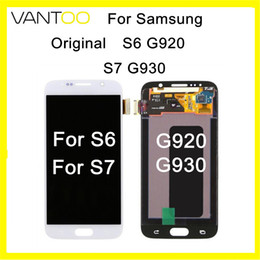 cell phone display repair Canada - Original LCD Display Touch Screen Digitizer For Samsung Galaxy S6 S7 G920 G930 cell phone Repair lcd replacement with Super AMOLED