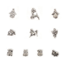 $enCountryForm.capitalKeyWord Australia - Free shipping New Wholesale 123pcs Mixed Antique Silver Plated Zinc Alloy Deer Cat Charms Pendants DIY Metal Jewelry Findings jewelry makin